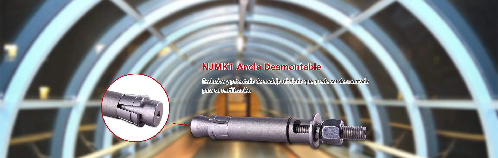 NJMKT Anclaje Desmontable